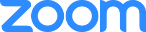 zoom Logo in blau
